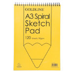 Goldline Spiral A3 Sketch Book Pack 4