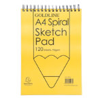 Goldline Spiral A4 Sketch Book Pack 4