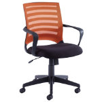 Vega orange mesh back operator chair