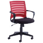 Vega Red mesh back operator chair