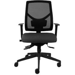 Universal mesh back chair black