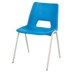 Harmony Class Room Stacking Chair Blue Shell Grey Frame 430mm Height Pack Of 4