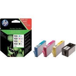 Original HP No. 920XL high capacity black and colour printer ink multipack C2N92AE