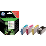 HP 920XL Original Ink Cartridge C2N92AE Black 3 Colours Pack 4
