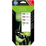 Original HP No940XL high capacity black and colour printer ink cartridge multipack C2N93AE