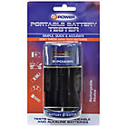 2 Power Portable Battery Tester for AA AAA C D and 9V Batteries