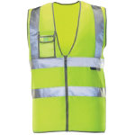 Alexandra Hi vis yellow waistcoat with transparent chest pocket medium