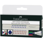 Faber Castell Grip Permanent Chisel Tip Marker Assorted Pack of 4