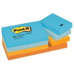 Post it Cool Pastel Rainbow Notes 38mm x 51mm 12 pads per pack