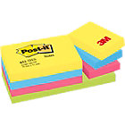 Post it Warm Neon Rainbow Notes 38mm x 51mm 12 pads per pack