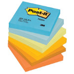 Post it Warm Pastel Rainbow Notes 76mm x 76mm 6 pads per pack