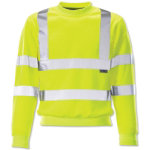 Yellow long sleeved hi vis sweatshirt large