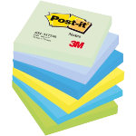 Post it Cool Neon Rainbow Notes 76mm x 76mm 6 pads per pack