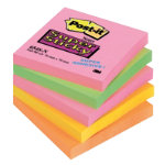 Post it Super Sticky Cape Town Notes76mm x 76mm 5 pads per pack