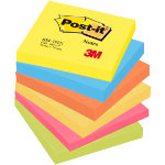 Post it Warm Neon Rainbow Notes 76mm x 76mm 6 pads per pack