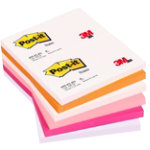 Post it Warm Pastel Rainbow Notes 76mm x 127mm 12 pads per pack