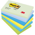 Post it Cool Neon Rainbow Notes 76mm x 127mm 6 pads per pack