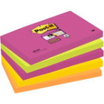 Post it Super Sticky Neon 127mm x 76mm 5 pads per pack