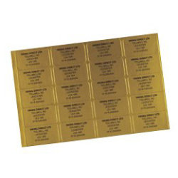 Address Telephone Labels Gold 65 sheet 16sheets PK