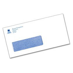 DL Self Seal 1 Print Colour Window Envelopes White 500 bx