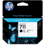Original HP No711 high capacity black printer ink cartridge CZ133A