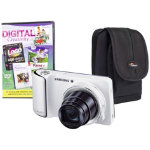 Samsung GC 100 Galaxy White Camera Kit inc PCT Photoshop Elements and Case