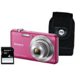 Sony DSC W710 Pink Camera Kit inc 4GB SD Card and Case