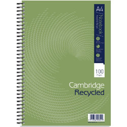 Cambridge wirebound notebooks ruled and margin A5 5 pk