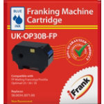 Compatible franking ink for the Francotyp Postalia Optimail 30 machine blue Ink