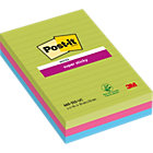 Post it Super Sticky Notes Assorted Ultra Lined 102 x 152mm