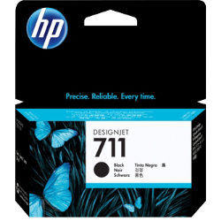 Original HP No.711 black printer ink cartridge CZ129A