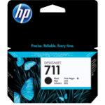 Original HP No711 black printer ink cartridge CZ129A