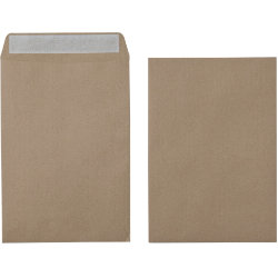 Office Depot Recycled Peel and Seal premium Plain Envelopes 115gsm Brown 353 x 229mm Box of 250