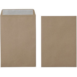 Office Depot Recycled Peel and Seal premium Plain Envelopes 115gsm Brown 458 x 324mm Box of 125