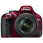 Nikon D5200 SLR Camera Red 18 55mm VR Lens Kit 24MP