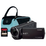 Sony HDR CX220 Black Camcorder Kit inc 8GB Class 10 SD Card and Case