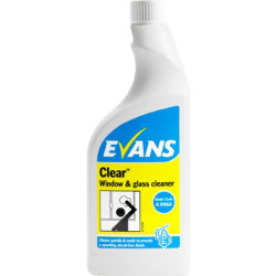 Evans Vanodine glass and stainless steel cleaner spray 750ml
