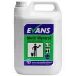 Evans Vanodine Mystrol concentrated all purpose cleaner lemon 5L