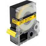 Epson LabelWorks tape cartridge black on yellow 24mm x 9m C53S627401
