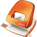 Leitz NeXXt Series WOW Metal Office 2 Hole Punch Metallic Orange 30 sheets