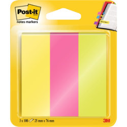 Post it® Note Markers 25 x 76mm 3 pads