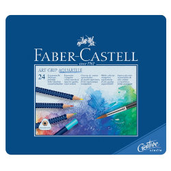 Faber Castell Art Grip Water Colour Pencils Aquarelle assorted colours pack 24
