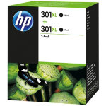 HP 301XL Original Black Ink Cartridge Twin Pack D8J45AE