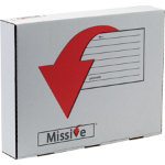 Missive premier multi coloured self seal postal box 450 x 350 x 80mm small parcel postal tariff pack 10