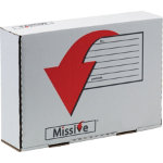 Missive Value A4 plus Size Postal Box 318 x 222 x 80mm Small Parcel Postal Tariff Pack 10