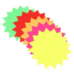 Bright Idea s fluorescent stars assorted colours 152mm x 6 inch pack 12