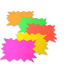 Bright Idea s fluorescent flashes assorted colours A4 pack 5