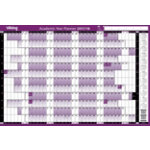 Viking Academic Year Planner Unmounted 2017 2018 White Purple