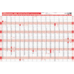 Viking 16 month year wall planner 2015 plus pen