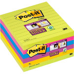Post it Super Sticky Notes Assorted Ultra Lined 100 x 100mm